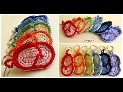 How To Crochet Flip Flop Key Chain