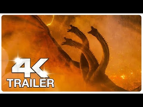GODZILLA KING OF THE MONSTERS : 6 Minute Trailers (4K ULTRA HD) NEW 2019 | Godzilla 2