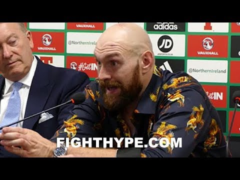 "TYSON FURY BRUTALLY HONEST ABOUT WILDER ""HARDEST FIGHT"" PLANS; EXPLAINS WHY ""I'M REALLY READY"""