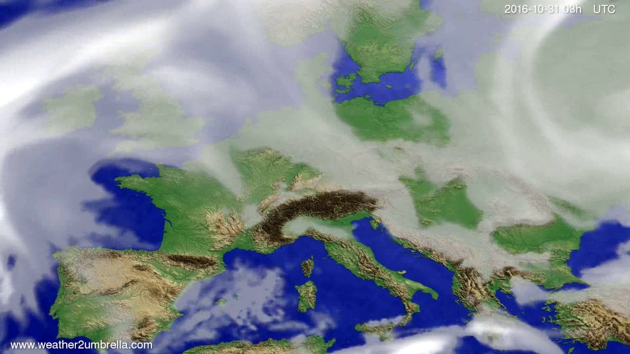 Cloud forecast Europe 2016-10-28