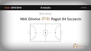 Skrót meczu Nbit Gliwice - Pogoń 04 Szczecin (8 kolejka)
