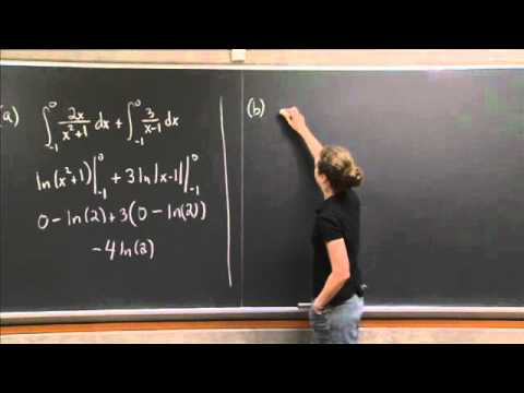 Integration Practice I | MIT 18.01SC Single Variable Calculus, Fall 2010