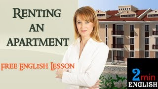 Renting an apartment, Free English Lesson