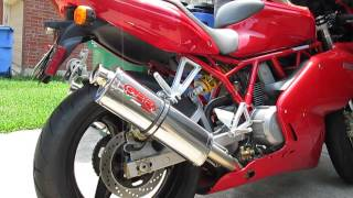 9. GPR TriOval slip-on exhaust on a 2006 Ducati 800SS
