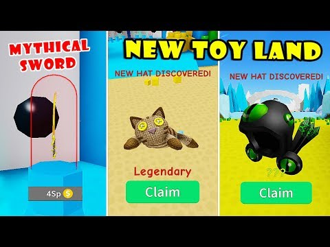 New Toy Land + Weapons Update! New Legendary, Mythical Dominus Hats | Unboxing Simulator! Roblox]