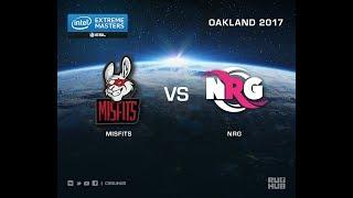 Misfits vs NRG - IEM Oakland 2017 NA Quals - map1 - de_nuke [ceh9, Crystalmay]
