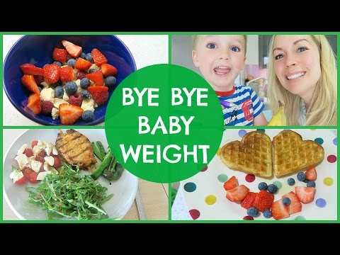 WHAT I EAT IN A DAY TO LOSE BABY WEIGHT (видео)