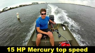 Top speed 15 horsepower mercury outboard