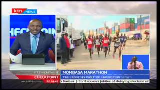 CheckPoint: Paul Maina And Nancy Jebetare The Safaricom Mombasa Marathon, September 25th 2016
