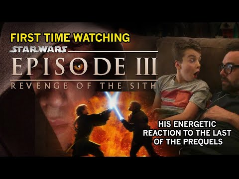 STAR WARS Episode III: My Son's ENERGETIC Reaction to Revenge of the Sith