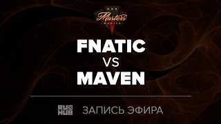 Fnatic vs Maven, Manila Masters SEA qual, game 2 [Mila, CrystalMay]