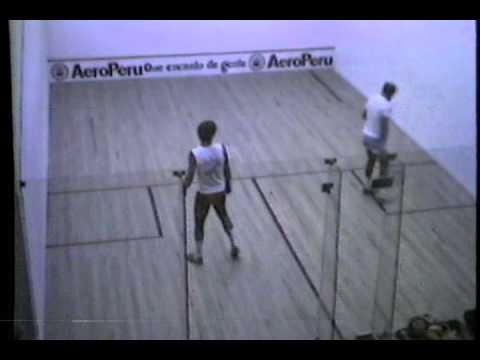 Gran Prix Sudamericano de Squash 1985 Hernan Dubourg vs Federico Choit
