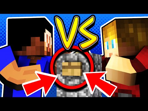 ONE VS ONE CHALLENGE! - Minecraft FIND THE BUTTON with Vikkstar & Lachlan (видео)