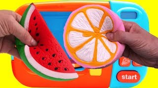 Video Microwave Surprise Toys Learn Colors Vecro Fruit Cutting Pretend Playset Fun for Kids MP3, 3GP, MP4, WEBM, AVI, FLV Juli 2017