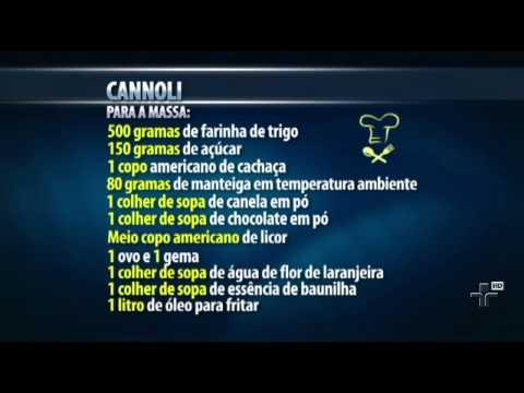 Aprenda a fazer Cannoli uma sobremesa siciliana - 12/09/2014