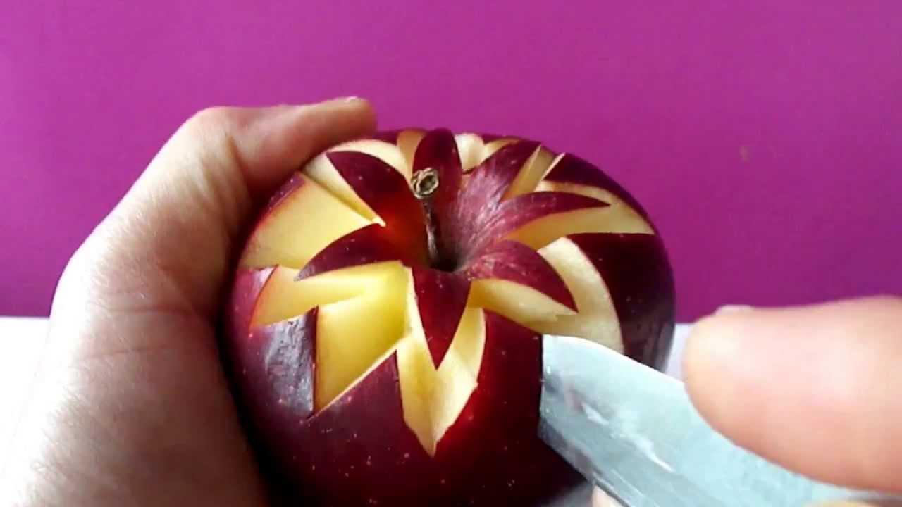 STELLA DI MELA A SORPRESA ♥ Intaglio Creativo Frutta ♥ VIDEORICETTA