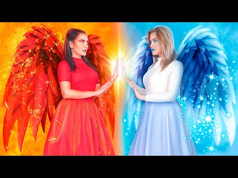 Hot vs Cold Fairy / Girl on Fire vs Icy Girl