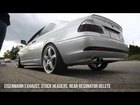BMW 325CI e46 Eisenmann race exhaust, ebay headers, no cats, no resonators