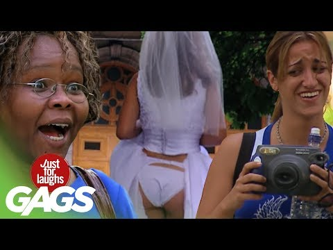 laughs - http://gags.justforlaughs.com | Subscribe! http://goo.gl/wJxjG Love is in the air! We bring you some favorite moments from our wedding album! Sexy Bride Fart...