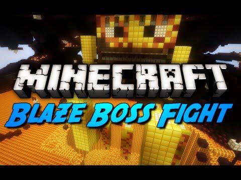 Minecraft Mini-Game: INTENSE BLAZE BOSS BATTLE!