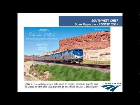 Video TRENO AMTRAK, I GRANDI PERCORSI: Northeeast Corridor & Southwest Chief