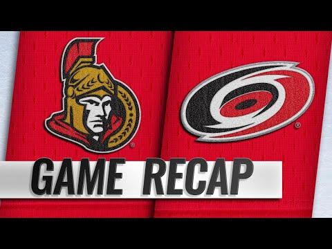 Ryan, Stone, Nilsson pace Senators past Hurricanes