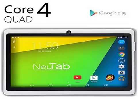 New NeuTab® N7 Pro 7'' Quad Core Google Android 4.4 KitKat Tabl Top