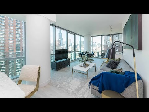 A skyline-view 2-bedroom, 2-bath at the South Loop's Essex on the Park