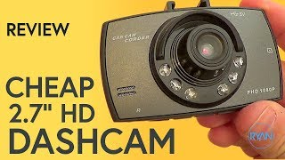 """Quick review video, with footage, of a really cheap 2.7"""" HD dashcam, normally found on ebay. Hope you like the video! Thanks for watching!_____Video uploaded by me to my channel 'Ryaniwk' - You have no right to copy and re-use this video without mentioning the channel URL and name on the video player._____DISCLAIMER:This is not a sponsored or paid video. This dash cam can be found on eBay, Amazon, etc._____YOUTUBE LINK:https://youtu.be/14d3S_jFLzQMUSIC: [Chill] Liquid Memoirs & Khromi - Particleshttps://youtu.be/xq14249YsOcKEYWORDS:2.7 dash cam2.7"""" HD Dash cam2.7"""" HD Dashcam2.7"""" Dashcam2.7 dash cambudget dash cambudget dash cam reviewcheap dash cam review 2017HD 2.7"""" LCD 1080P Car DVR1080P 2.7"""" HD LCDDash cam Reviewebay dash cam ebay dashcam ebayebay reviewamazonbmw bmw safetydashdash cam dashcamebay dash cam reviewebay dash cameracheap dash camcheap dash camerachinese dash camchinese dash camerachinese dash cam reviewCheap chinese ebay Dash cam Reviewnovatekhalfordstom tomtomtom"""