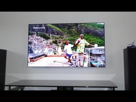 Samsung UN55D7000 LED TV modified by removing bezel