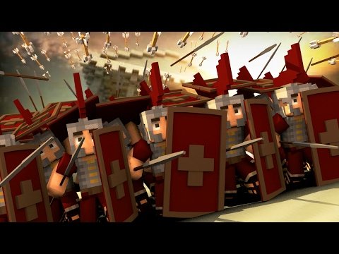 Minecraft   Good vs Evil - ROME FORT DEFENSE: Gallic Wars! (Rome vs Gaul)