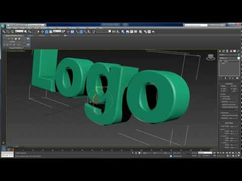 3dsmax - This tutorial uses 3ds max 2013 to create and animate a 3D text logo. The text is created using the Bevel modifier instead of the Extrude modifier, and the S...