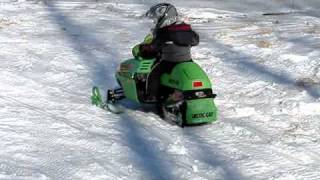 7. my 2 1/2 year old son riding a arctic cat z120