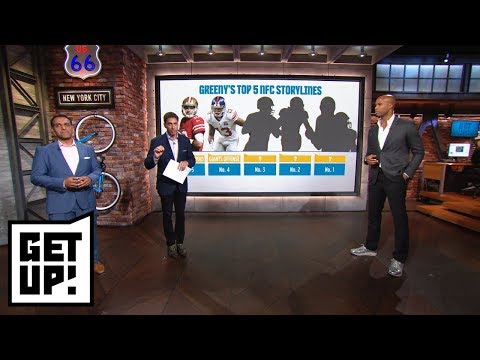 Mike Greenberg's top 5 NFL preseason storylines for NFC includes Jimmy Garoppolo | Get Up! | ESPN (видео)