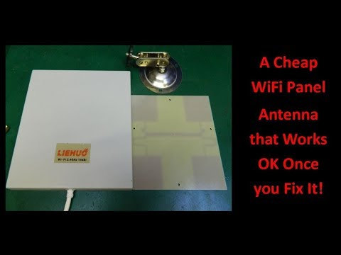 A Cheap Wifi Panel Antenna that Works Once You Fix It