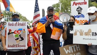 Rally for Artsakh at the United Nations