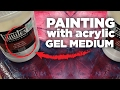 Download Lagu How to use Acrylic gel medium in paintings tutorial Mp3 Free