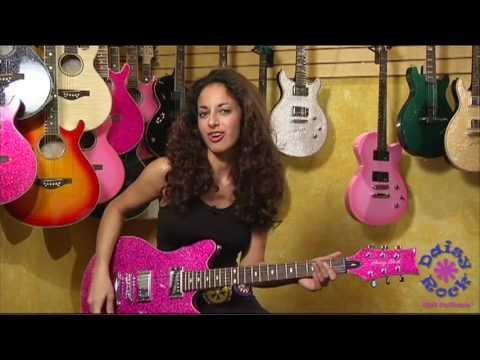 Daisy Rock Girl Guitar's Atomic Pink Siren Promo Video featuring Ruthie Bram