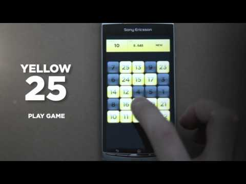 Video of Yellow25 (Touch Numbers Game)