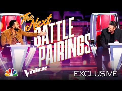 The Second Battle Pairings Are Revealed by the Coaches - The Voice Battles 2020