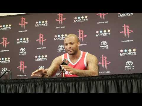 PJ Tucker - Houston Rockets Media Day 2018
