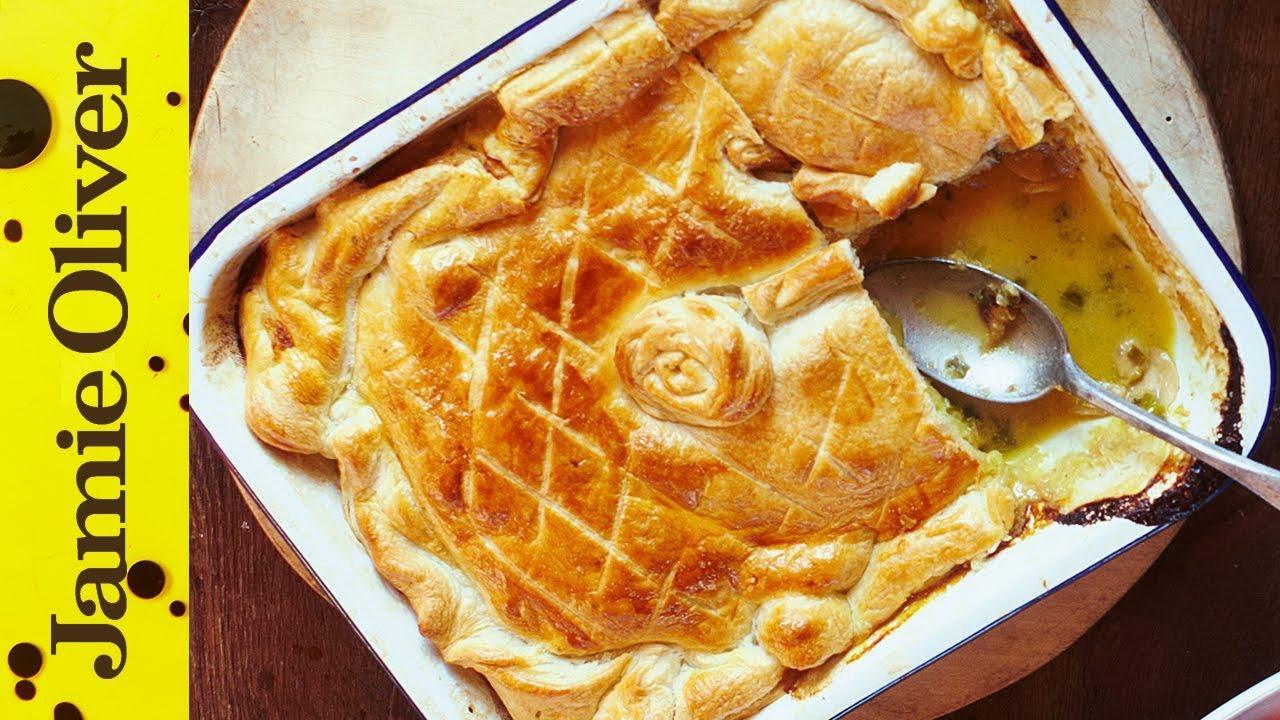 Jamies Quick Chicken  Mushroom Pie