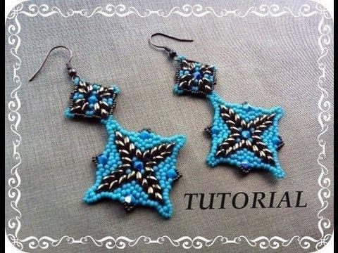 Tutorial: DIY Orecchini  Samarcanda feat Superduo beads :-p ( beads tutorial)
