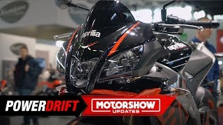 10. 2019 Aprilia Tuono V4 1100 Factory : As exotic as a bike can get : Intermot 2018 : PowerDrift
