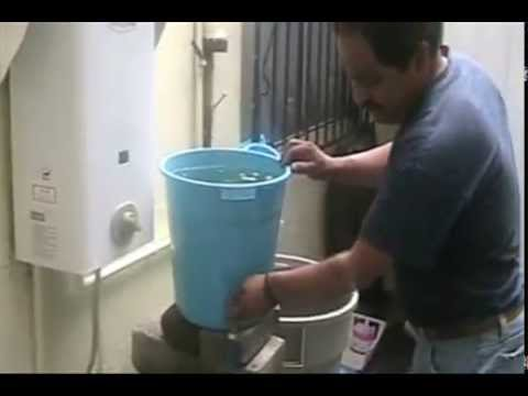 sistema casero para inyectar agua al subsuelo