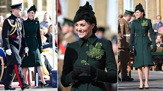 Princess on parade! Kate stuns in emerald green as joining with William on St. Patrick's Day 2019