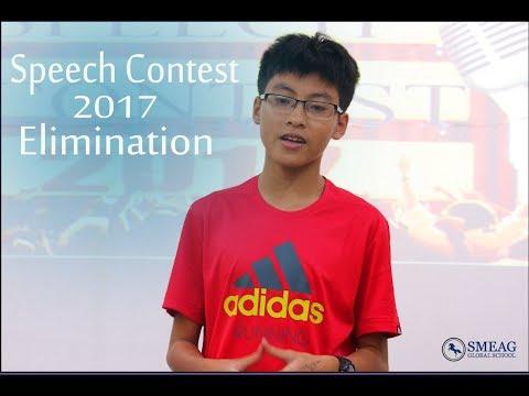 [Learning English] English Academy in Cebu, Philippines:  Speech Contest 2017 (Elimination)