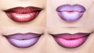 Ombre Lips Tutorial with 3 Different Styles | milavictoria - YouTube