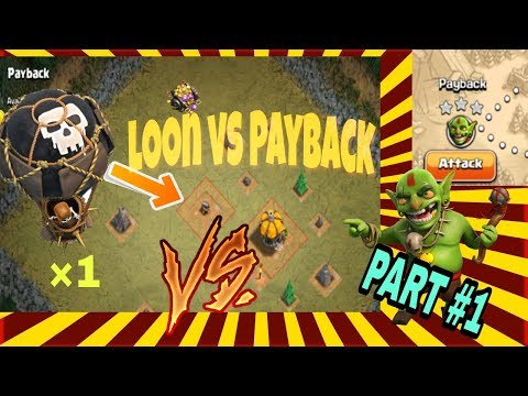 Balloon vs payback in single attack !..clash of clans.