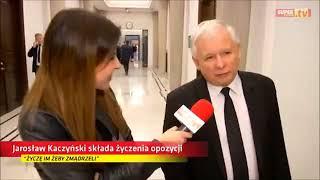 Kaczyński życzy opozycji na święta żeby zmądrzeli…